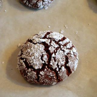 Chocolate Crinkle Cookies (Vegan Friendly)