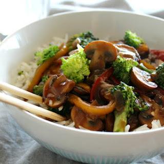 Mushroom Broccoli & Ginger Stir Fry.