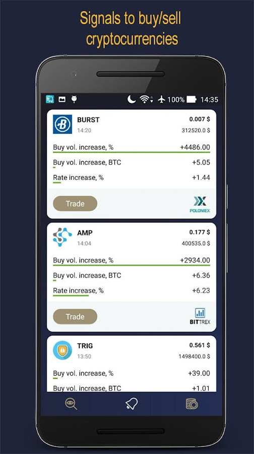 CoiNsider - Make money on Bitcoin & Ethereum price- screenshot