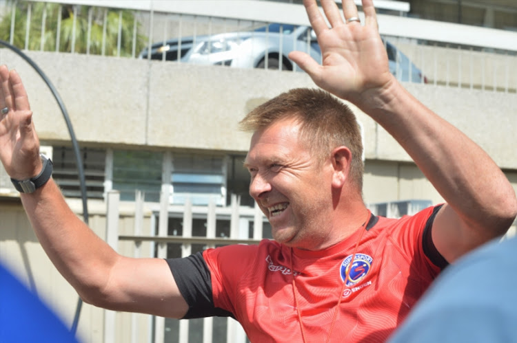 Eric Tinkler during the SuperSport United media open day at Meggawatt Park on January 25, 2018 in Johannesburg, South Africa.