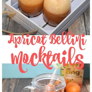 Apricot Bellini Mocktails.