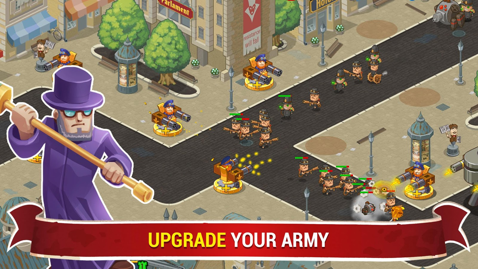 Steampunk Syndicate 2: Tower Defense Game- screenshot