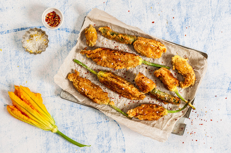 Deep fried zucchini flowers are not necessarily the 'healthier' option.