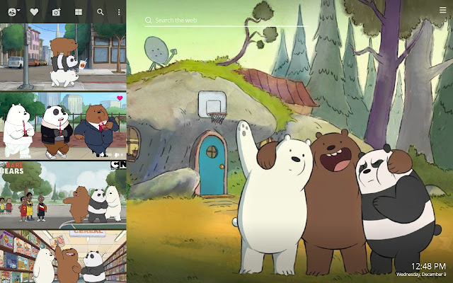 We Bare Bears Hd Wallpapers New Tab Theme