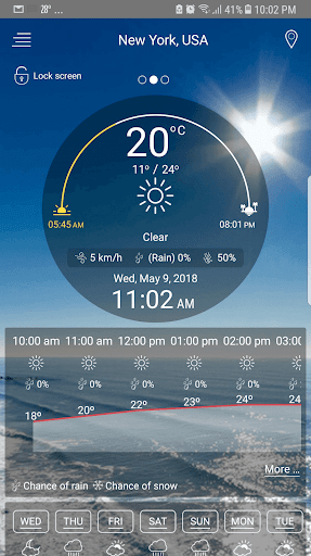 لالروبوت Weather - unlimited & realtime weather forecast تطبيقات screenshot