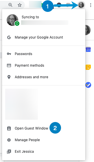 use a guest profile in chrome