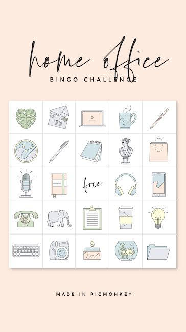 Home Office Bingo - Facebook Story Template