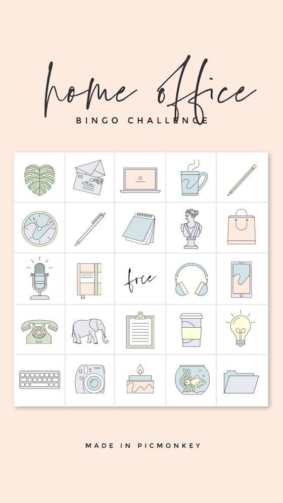 Home Office Bingo - Facebook Story Template