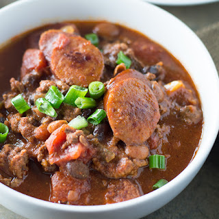 Spicy Black Bean and Sausage Chili.