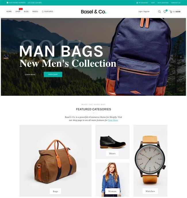 Basel - premium Shopify theme