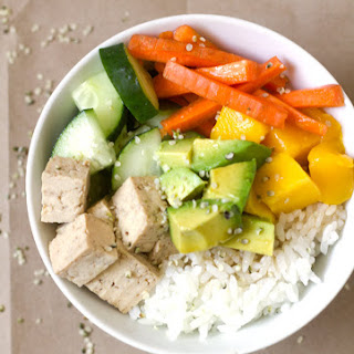 Maple Soy Tofu Sushi Bowl