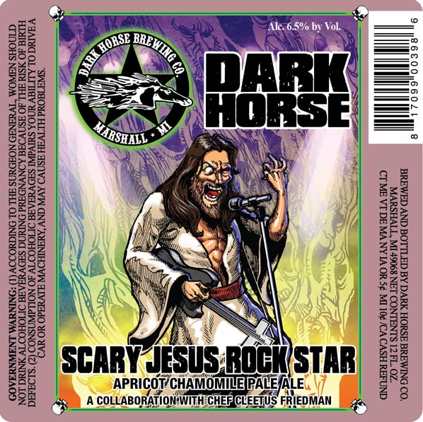 Logo of Dark Horse Scary Jesus Rock Star