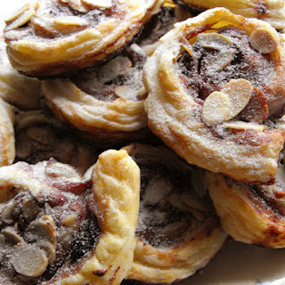 Almond and Blueberry Jam Pastries.