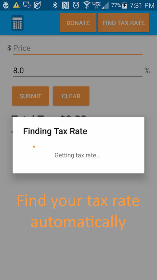 Sales Tax Calculator- screenshot