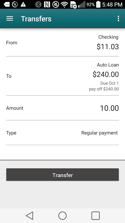 IAA Credit Union Mobile- screenshot