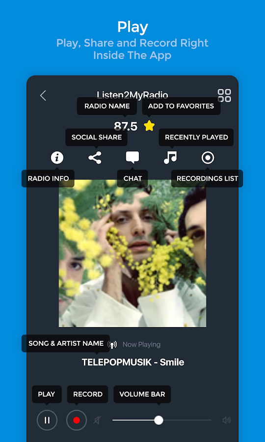 Listen2MyRadio: screenshot