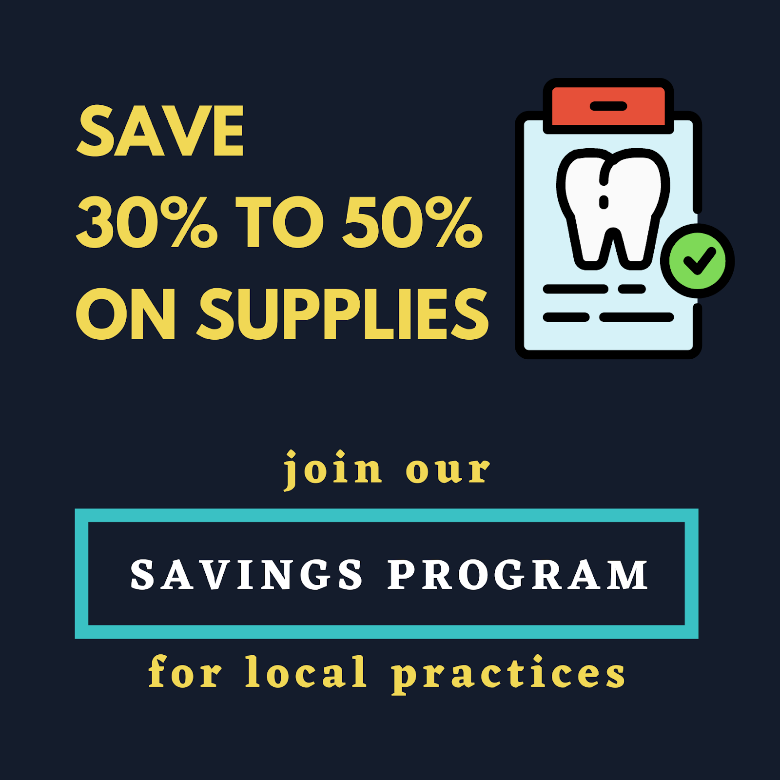 Save 30% to 50% on supplies