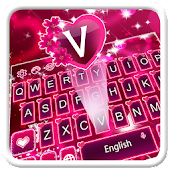 Pink Romantic Rose Keyboard
