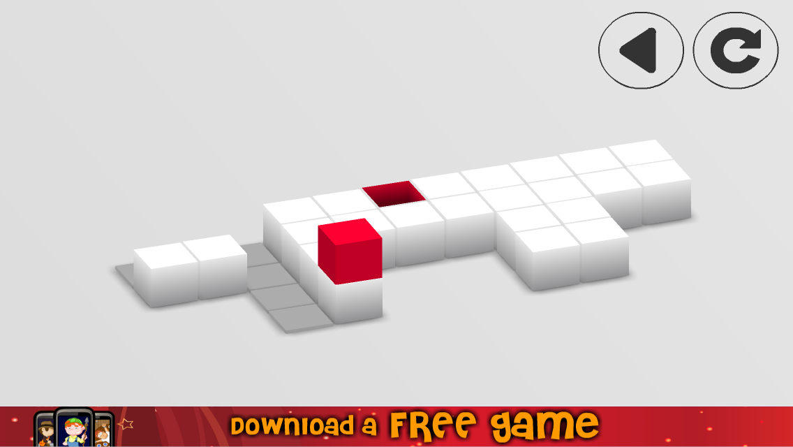 Roll Red Rolling Sky Cube Ball Screenshot