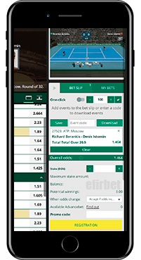 BetWinner mobile app for iPhone