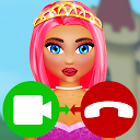 fake call video princess game APK