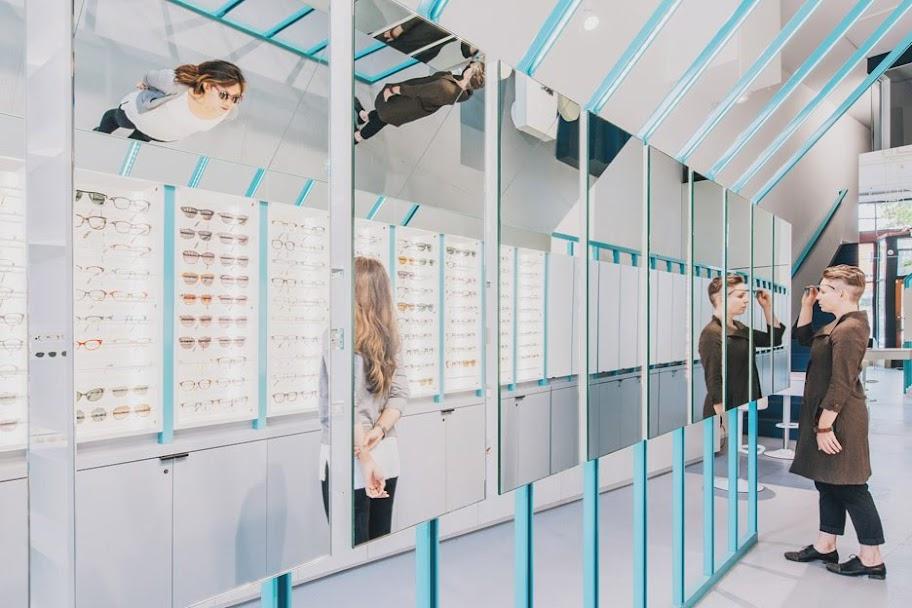 thiết kế shop phong cách đương đại