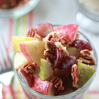 Autumn Fruit Salad with Cinnamon Greek Yogurt Dressing.
