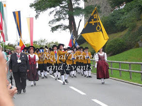 Photo: the procession to the Castle lawn