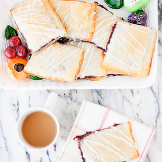 Phyllo Breakfast Pastry with Quick Strawberry Jam Recipe