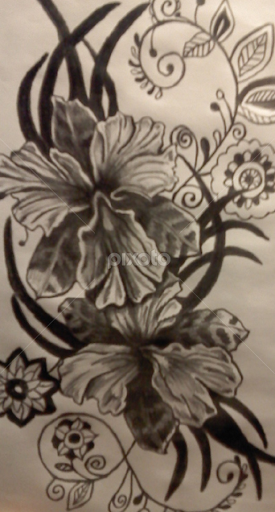 Flowers In Henna All Drawing Drawing Pixoto