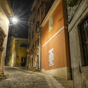 When The Sun Goes Down by Mara R. Sirako - City,  Street & Park  Historic Districts ( history, old house, cultural heritage, piran, pirano, old city, old town, stone, architecture, old building, medieval, historic,  )