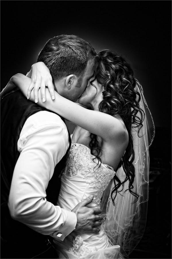 by David West - Wedding Bride & Groom ( love, kiss, wedding, embrace, bride, groom, dance, kisses )