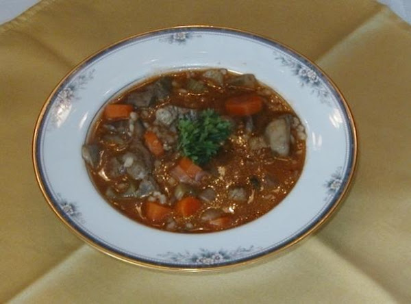 Beef Vegetable Soup With Barley Recipe
