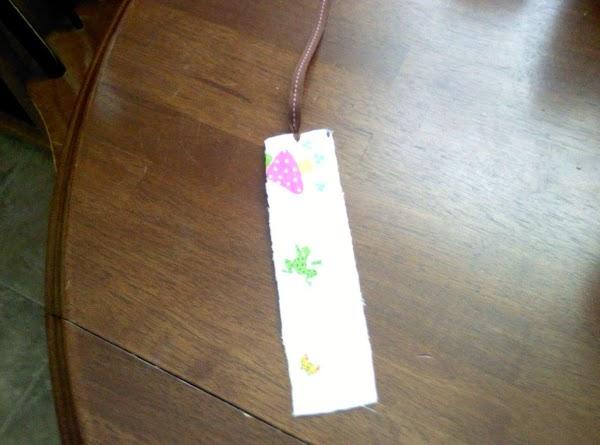 Fabric Bookmark Recipe