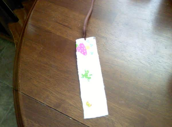 Fabric Bookmark Recipe