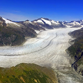 Mendenhal Glacier by Sharon Leckbee - Landscapes Mountains & Hills