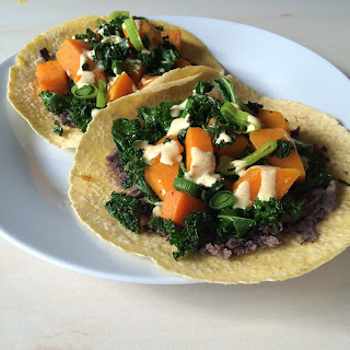 Curried Winter Squash and Kale Tortillas.