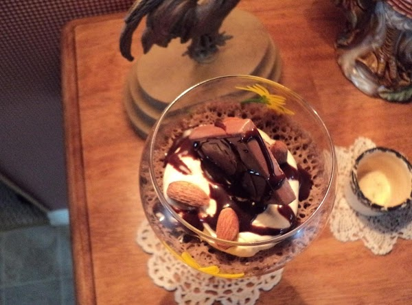 I did one in a fancy glass goblet...worked beautifully...nice when having guests over for...