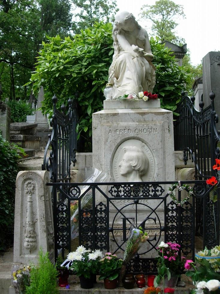 Tombe de Chopin au Cimetière Père-Lachaise à Paris
