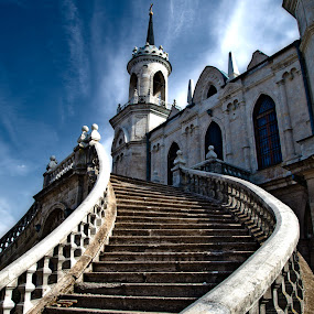 stairs to the church by Dmitry Samsonov - Buildings & Architecture Places of Worship ( curve, bazhenov, stairs, church, architecture,  )