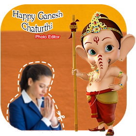 Ganesha Photo Frame : Cut Paste Editor