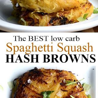 Spaghetti Squash Hash Browns.