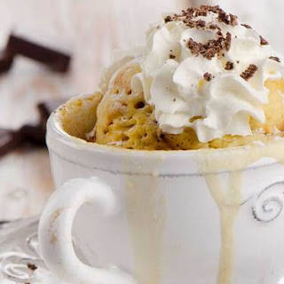 Decadent Vanilla Mug Cake.