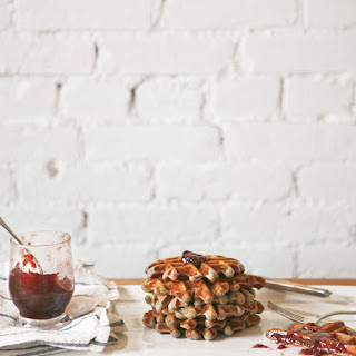Raspberry Jam Waffles