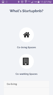 Startupbnb- screenshot thumbnail