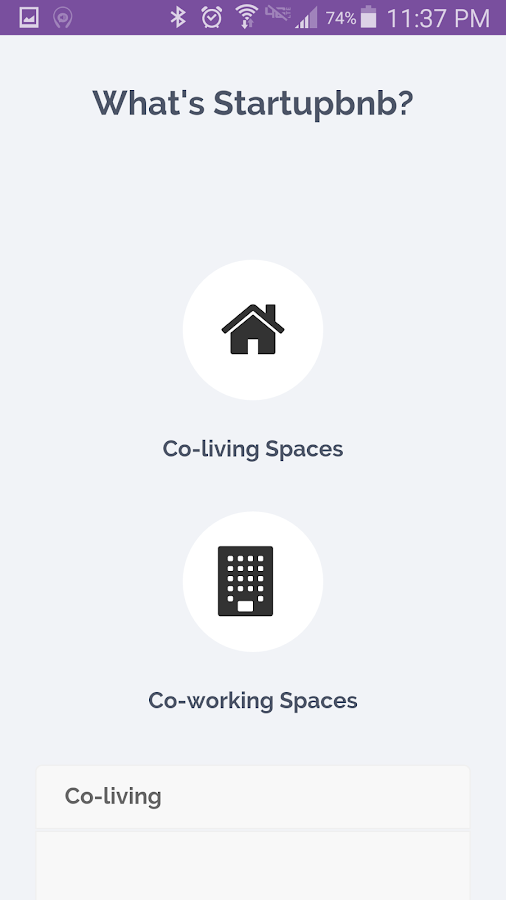 Startupbnb- screenshot