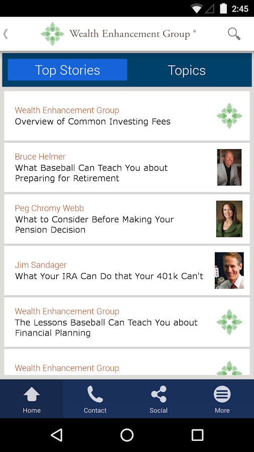 Wealth Enhancement Group- screenshot