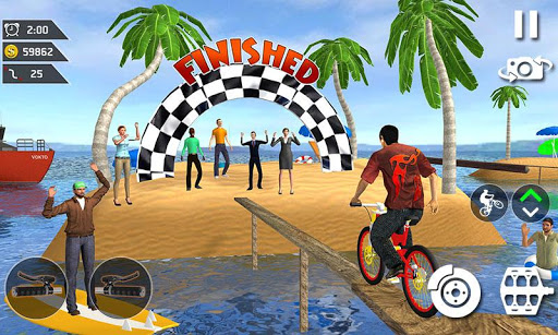 Waterpark Bicycle Surfing - BMX Cycling 2019 download 1