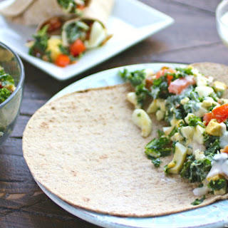 Kale Cobb salad sandwich wraps
