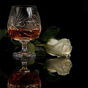 Brandy and flower by Cristobal Garciaferro Rubio - Food & Drink Alcohol & Drinks
